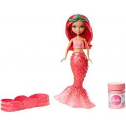 Lalka Barbie DVN00 Bąbelkowa mała syrenka - Różowa