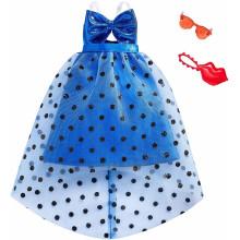 Barbie - Modne kreacje - Niebieska sukienka FXJ07