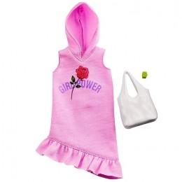 Barbie – Ubranka dla Barbie – Różowa sukienka z kapturem Girl Power – GHW77