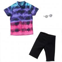 Barbie – Ubranka dla Kena – Kolorowa koszula i czarne spodnie – FKT44 GHX52