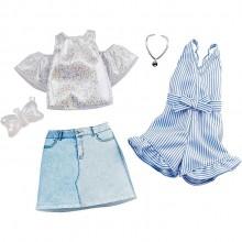 Barbie – Ubranka dla Barbie – Zestaw z kombinezonem w prążki – GHX56