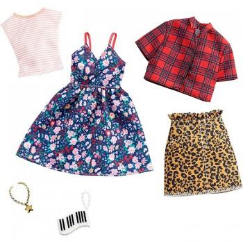 Barbie – Ubranka dla Barbie – Zestaw z sukienką w kwiaty – GHX57