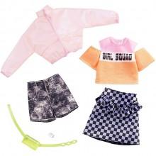 Barbie – Ubranka dla Barbie – Zestaw ze spódnicą w szachownicę – GHX58