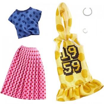Barbie – Ubranka dla Barbie – Zestaw ze spódnicą w grochy – GHX60