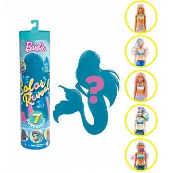 Barbie Color Reveal - Kolorowa niespodzianka w tubie seria 4 - Barbie syrenka - GTP43