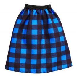 Barbie - Modna spódniczka w niebieską kratę - FPH23