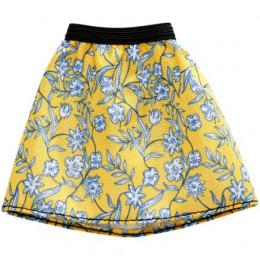 Barbie - Modna spódniczka żółta w kwiaty - FXH86