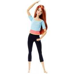 Barbie MADE TO MOVE DPP74 Ruchoma Lalka Rudowłosa