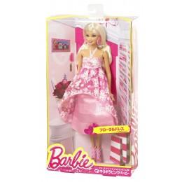 Barbie BFW17 Modny Bal Różowa w Kwiaty