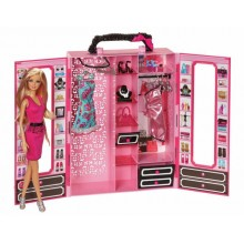 Barbie Garderoba BMC00 walizka z ubrankami i lalką