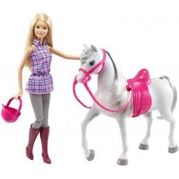 Barbie – Lalka z białym koniem DHB68