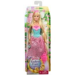 Barbie Lalka DKB60 Długowłosa Księżniczka - Blondynka