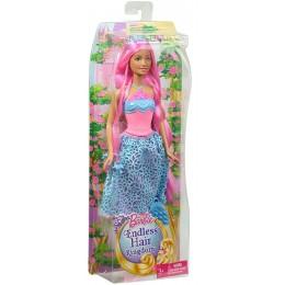 Barbie Lalka DKB61 Długowłosa Księżniczka - Różowa