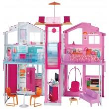 Barbie - Miejski domek z wyposażeniem - DLY32