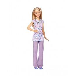Barbie Kariera DVF57 Lalka - Pielęgniarka