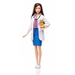 Lalka Barbie DVF58 Lalka - Weterynarz + szczeniaczek