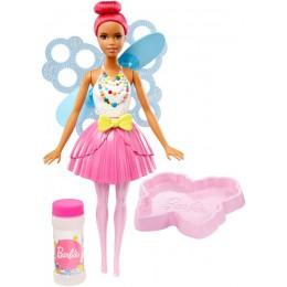 Lalka Barbie DVM96 Bąbelkowa Wróżka ciemny róż