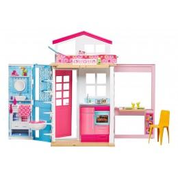 Barbie DVV47 Rozkładany domek dla lalek - dwupoziomowy