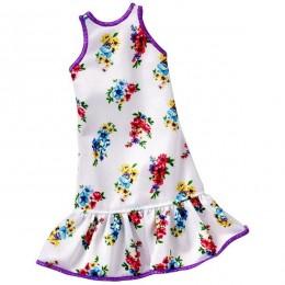 Barbie DXB02 Modne sukienki - biała w kwiaty