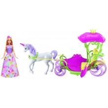 Barbie Dreamtopia DYX31 Zestaw lalka + pojazd - Karoca Krainy Słodkości