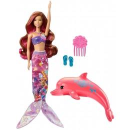 Lalka Barbie Delfiny z Magicznej Wyspy FBD64 Tajemnicza Syrenka i delfin