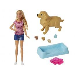 Barbie FBN17 Zestaw z lalką - Narodziny piesków