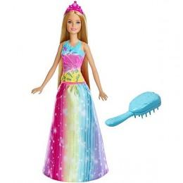 Barbie Dreamtopia FRB12 Magiczne włosy Księżniczki - światełka i melodia