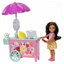 Barbie - Club Chelsea - Mobilna lodziarnia - Zestaw z lalką FDB33