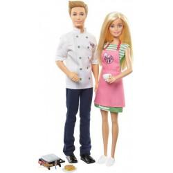 Barbie - Zestaw lalka Barbie i Ken - Kuchnia FHP64