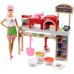 Barbie - Zestaw Pizzeria z ciastoliną + lalka - FHR09