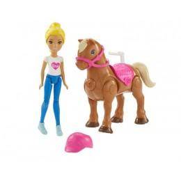 Barbie FHV63 On The Go - Kucyk i lalka blondynka