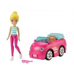 Barbie FHV77 On The Go - Samochód i lalka blondynka
