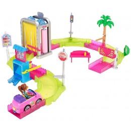Barbie FHV91 On The Go - Myjnia samochodowa - Zestaw z lalką