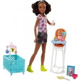 Barbie FHY99 Lalka - Opiekunka Skipper i bobas + akcesoria