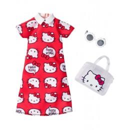 Barbie FKR67 Zestaw ubranek dla lalek - Hello Kitty