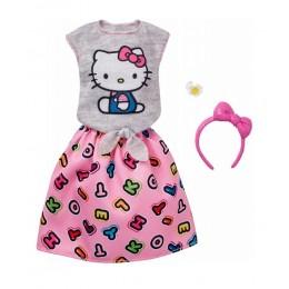 Barbie FKR68 Zestaw ubranek dla lalek - Hello Kitty