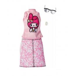Barbie FKR69 Zestaw ubranek dla lalek - Hello Kitty