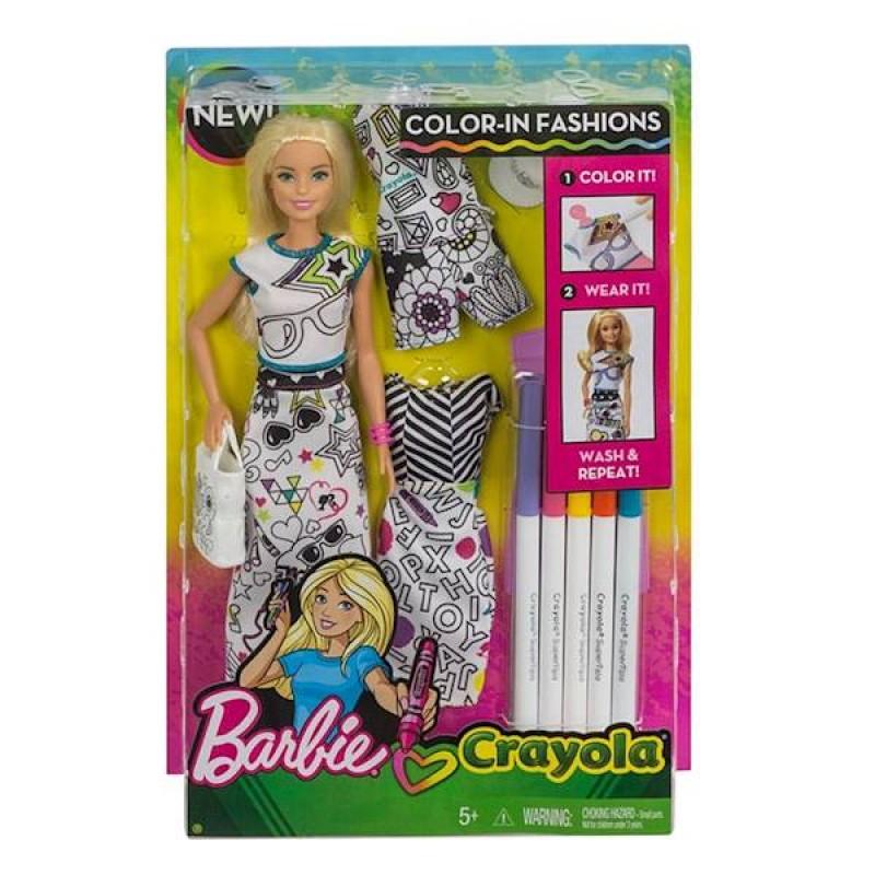 Barbie Diy Crayola Fph90 Kolorowa Moda Zestaw Z Lalk I Pisakami Sklep Zabawkowy