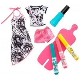 Barbie Crayola FPW13 Modne szablony DIY - Farbowanie ubranek