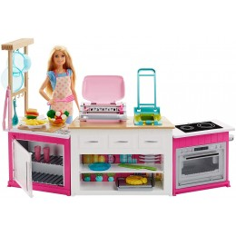 Barbie - Idealna kuchnia z dźwiękami - Zestaw z lalką - FRH73