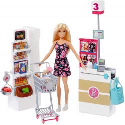 Barbie - Zestaw Supermarket + Lalka - FRP01