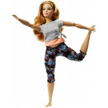 Barbie - Ruchoma Lalka - Made To Move - Ciemny Blond FTG84