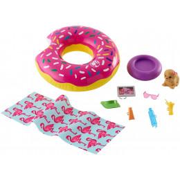 Barbie - Zestaw plażowy ze szczeniaczkiem - FXG38