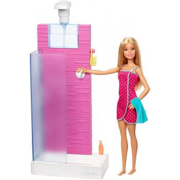 Barbie - Lalka w łazience z prysznicem - FXG51