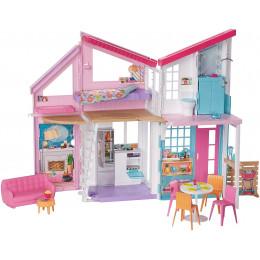 Barbie - Domek Malibu dla lalek z wyposażeniem - FXG57