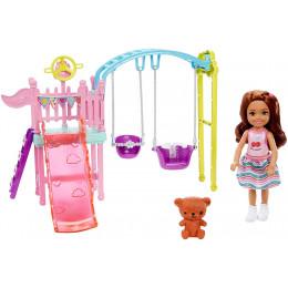 Barbie - Club Chelsea - Plac zabaw z huśtawką FXG84