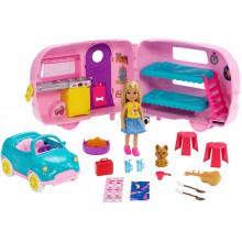 Barbie - Club Chelsea - Przyczepa kempingowa z wyposażeniem FXG90