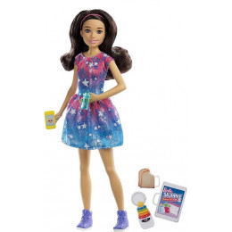 Barbie - Lalka Skipper Opiekunka w niebieskiej sukience - FXG93