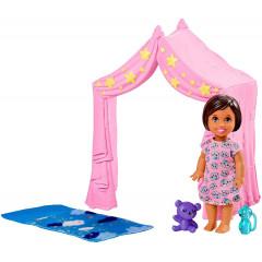 Barbie Opiekunka - Laleczka z namiotem - FXG97