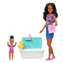 Barbie - Lalka Skipper Opiekunka - Zestaw z wanną FXH06